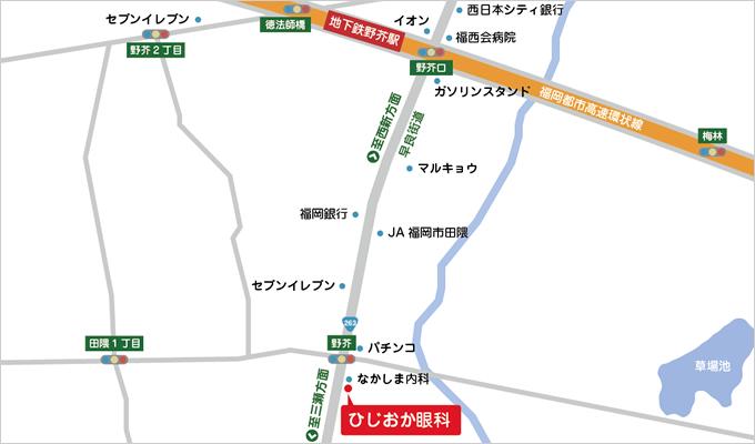 ひじおか眼科地図